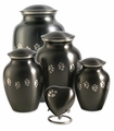 Paw Prints Classic Slate Pet Cremation Urn Series - Engravable