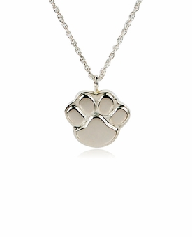 Paw Sterling Silver Pet Cremation Jewelry Pendant Necklace