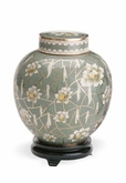 Pear Blossom Companion Cloisonne Cremation Urn