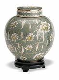 Pear Blossom Keepsake Medium Cloisonne Cremation Urn