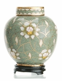 Pear Blossom Miniature Cloisonne Cremation Urn