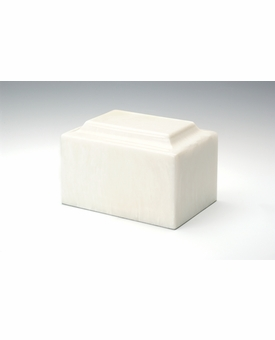 Pearl Classic Cultured Marble Cremation Urn Vault - Engravable