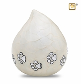 Pearl Love Drop Pet Cremation Urn