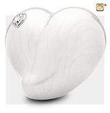 Pearl Loveheart with Swarovski Crystal Cremation Urn