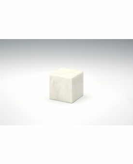 Pearl Small Cube Cremation Urn - Engravable