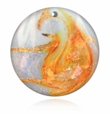 Pearly White Cremains Encased in Glass Cremation Sun Catcher