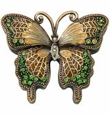 Peridot Jeweled Butterfly Keepsake Cremation Urn