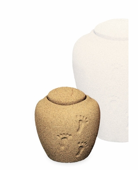 Permanent Sand Ocean Footprints in the Sand Mini Cremation Urn