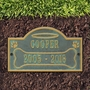 Personalized All Dogs Go to Heaven Lawn and Garden Pet Memorial Wall Plaque or Garden Marker - 10 Colors