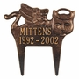 Personalized Angel Cat Pet Memorial Lawn and Garden Marker - 3 Colors