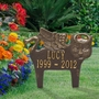 Personalized Angel Cat Pet Memorial Lawn and Garden Marker - 6 Colors