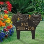 Personalized Angel Dog Pet Memorial Lawn and Garden Marker - 6 Colors