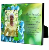 Personalized Blueberries Memorial Photo Frame for 4x6 photo
