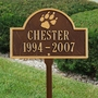 Personalized Dog Paw Print Arch Pet Memorial Lawn and Garden Marker - 3 Colors