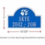 Personalized Dog Paw Print Arch Pet Memorial Lawn and Garden Marker - 9 Colors