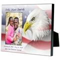 Personalized Eagle with Flag Memorial Photo Frame for 4x6 photo