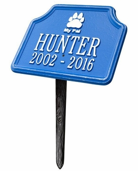 Personalized My Pal Dog Pet Memorial Lawn and Garden Marker - 15 Colors