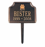 Personalized My Pal Dog Pet Memorial Lawn and Garden Marker - 3 Colors