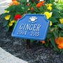 Personalized Our Kitty Cat Paw Pet Memorial Lawn and Garden Marker - 15 Colors