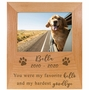 Personalized Pet Memorial Red Alder Picture Frame - You were My Favorite Hello and My Hardest Goodbye -2 Sizes