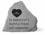 Personalized Pet Stone - In Memory Of With Heart - Memorial Garden Stone