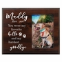 Personalized Pet Walnut Wood Picture Frame - My favorite Hello