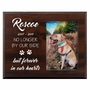 Personalized Pet Walnut Wood Picture Frame - No Longer By Our Side Design 2