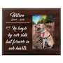 Personalized Pet Walnut Wood Picture Frame - No Longer By Our Side Design 1