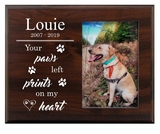 Personalized Pet Walnut Wood Picture Frame - Prints On My Heart