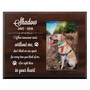 Personalized Pet Walnut Wood Picture Frame - When Tomorrow Starts