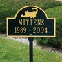 Personalized Playing Cat Arch Pet Memorial Lawn and Garden Marker - 3 Colors
