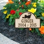 Personalized Playing Cat Arch Pet Memorial Lawn and Garden Marker - 9 Colors