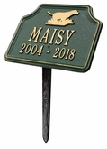 Personalized Retriever Dog Pet Memorial Lawn and Garden Marker - 15 Colors