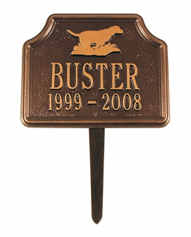 Personalized Retriever Dog Pet Memorial Lawn and Garden Marker - 3 Colors