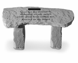 Personalized Stone - Gone Yet Not Forgotten - Bench - Memorial Garden Stone