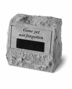 Personalized Stone - Gone Yet Not Forgotten - Headstone With Urn - Memorial Garden Stone