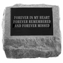 Personalized Stone - Headstone With Urn Cast In Bottom - Memorial Garden Stone