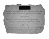 Personalized Stone - I Thought Of You - Memorial Garden Stone