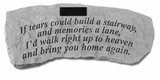 Personalized Stone - If Tears Could Build - Bench - Memorial Garden Stone