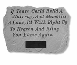 Personalized Stone - If Tears Could Build - Memorial Garden Stone