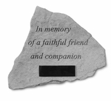 Personalized Stone - In Memory Of A Faithful Friend - Memorial Garden Stone