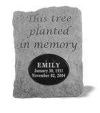 Personalized Stone - This Tree Planted - Memorial Garden Stone