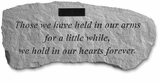 Personalized Stone - Those We Have Held - Bench - Memorial Garden Stone