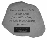 Personalized Stone - Those We Have Held - Memorial Garden Stone