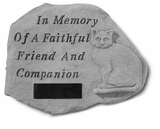 Personalized Stone - With Cat - Memorial Garden Stone