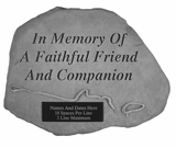 Personalized Stone - With Leash & Collar - Memorial Garden Stone