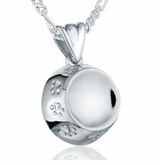 Pet Dish Sterling Silver Pet Cremation Jewelry Pendant Necklace