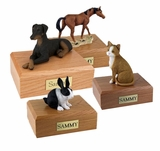 Pet Figurine Cremation Urns
