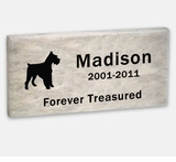 Pet Marker - 11 x 5.5 x 1 Inches - Dolomitic Stone - Garden Memorial Stone - Custom Engraved