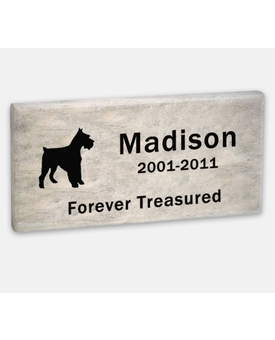 Pet Marker - 11 x 5.5 x 2 Inches - Dolomitic Stone - Garden Memorial Stone - Custom Engraved